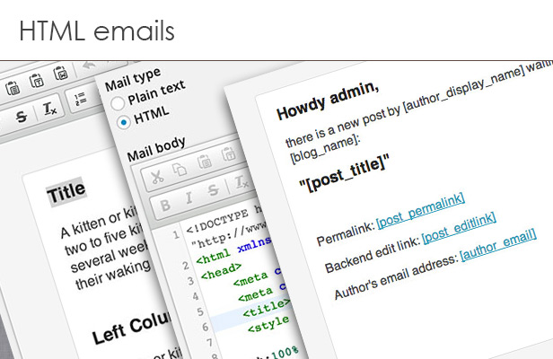 HTML mails